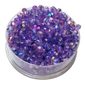 Perlas facetadas 4 mm