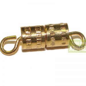 Cierre Tambor de metal dorado