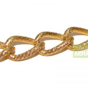 Cadenas de aluminio doradas