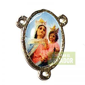 Centros para rosarios resinados Virgen del rosario de san nicolas