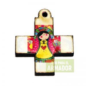 Cruces cruz de madera Virgen porfis