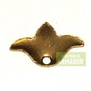Dijes de metal flor de lis paloma