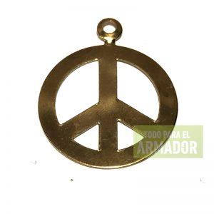 Dijes de metal simbolos de la paz