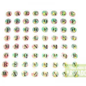 Tachas letras autoadhesivas