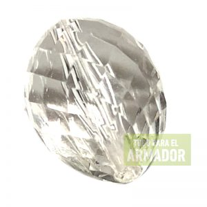 Dijes facetados acrilicos transparentes modelo 0224