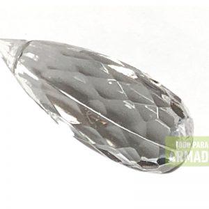 Dijes facetados acrilicos transparentes modelo 0239