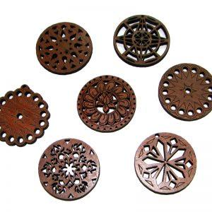 Set de 7 Mandalas de madera