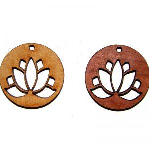 Flor de loto de madera
