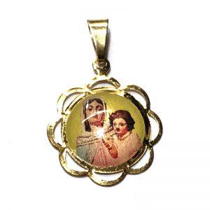 Medalla Virgen del rosario de san nicolas