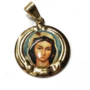 Medalla Virgen Rosa mistica