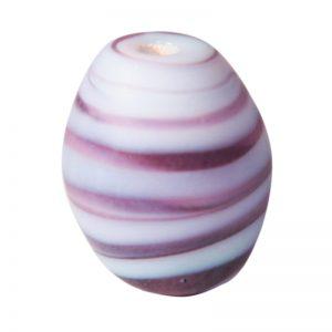 Cuentas ovalos de cristal de murano opalinas violetas