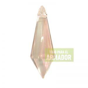 Dijes pendulos facetados acrilicos transparentes modelo 671