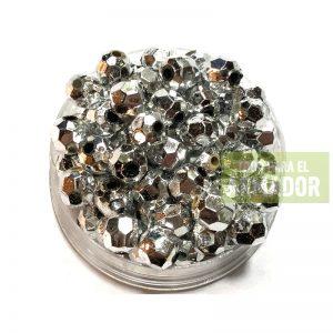 Perlas facetadas metalizadas 6 mm