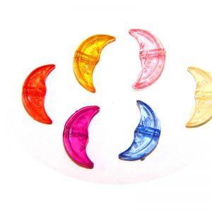 Dijes acrilicos lunas colores translucidos
