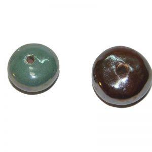 Cuentas circulares de ceramica