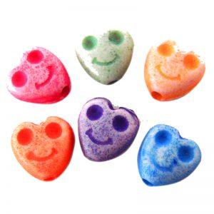 Dijes acrilicos corazones smile (mod 058)