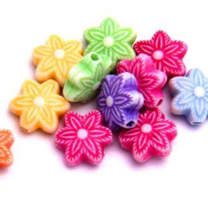 Dijes acrilicos flores estrellas (mod 087)