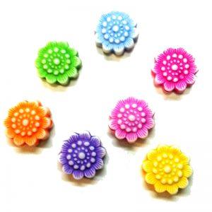 Dijes acrilicos Flores de loto (mod 088)