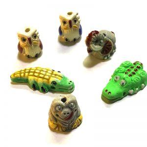 Cuentas de animales de ceramica