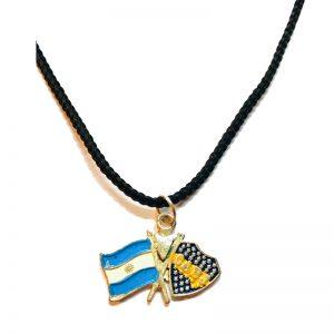 Collares de fundicion de bandera argentina y boca juniors