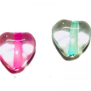 Corazones de cristal de murano