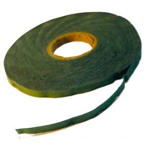 Cinta de gamuza verde x 10 metros