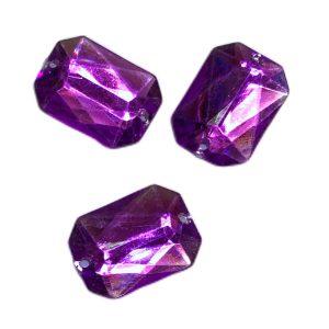 Piedras tipo strass para coser violetas
