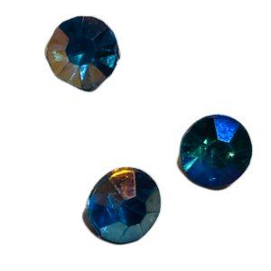 Strass acrilico conico facetado azul