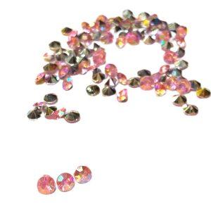 Strass acrilico conico facetado rosa