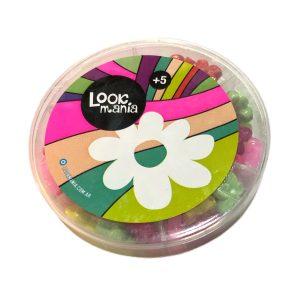 Kit look 36 de cuentas de flores en caja organizadora redonda