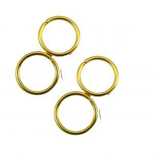 Argollitas de union doradas