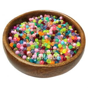 Perlas facetadas 4 mm de colores surtidos