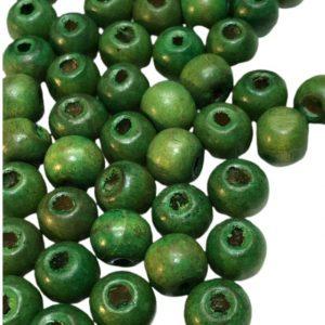 Bolitas de madera verdes