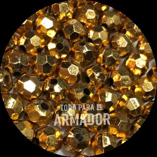 Perlas facetadas metalizadas color 45