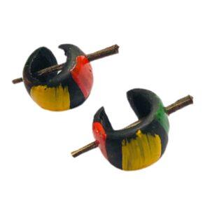 Aros de coco jamaiquinos